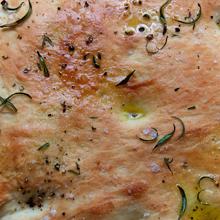 Homemade Focaccia with Rosemary & Sea Salt.