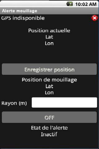 Alerte Mouillage- screenshot
