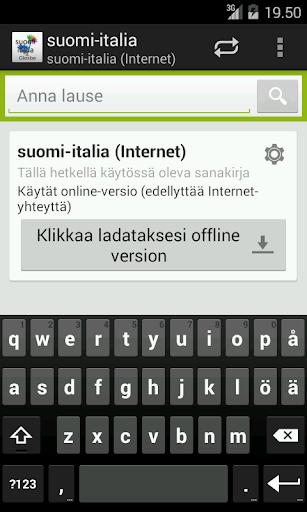 Suomi-Italia Sanakirja
