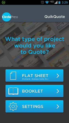 Circle Press QuikQuote