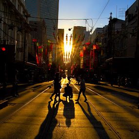 A street view of Melbourne by William Cheng - City,  Street & Park  Street Scenes