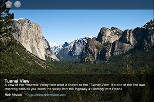 Screenshot of Yosemite National Park Gallery