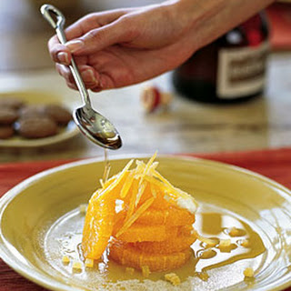 Oranges with Grand Marnier and Cookies.