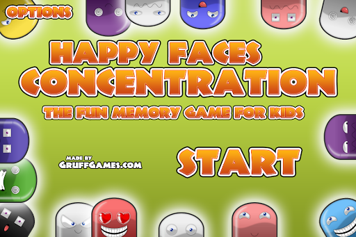 Happy Faces Concentration