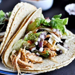 Crockpot Cheddar Beer Chicken Tacos.