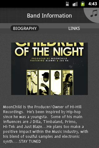 MoonChild Music - screenshot