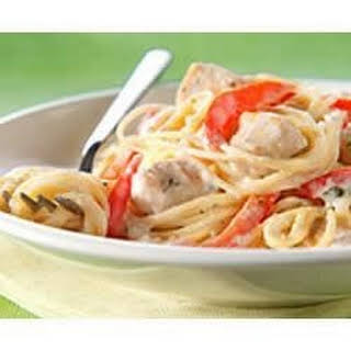 PHILLY Chicken Alfredo Pesto Pasta.