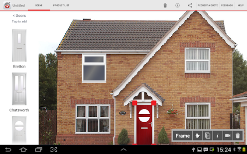 Eurocell home frame app for pictures.