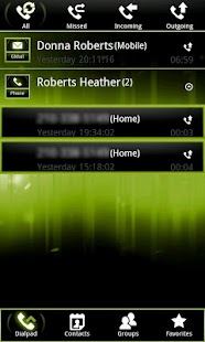 Green ICS GO Contacts EX - screenshot thumbnail