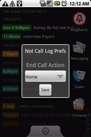 Not Call Log Classic - screenshot