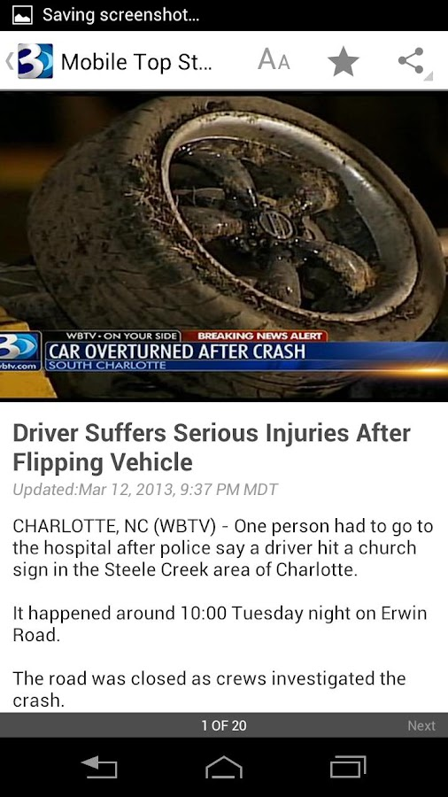 WBTV 3 Local News - screenshot