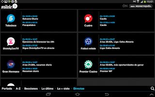 Screenshot of mitele