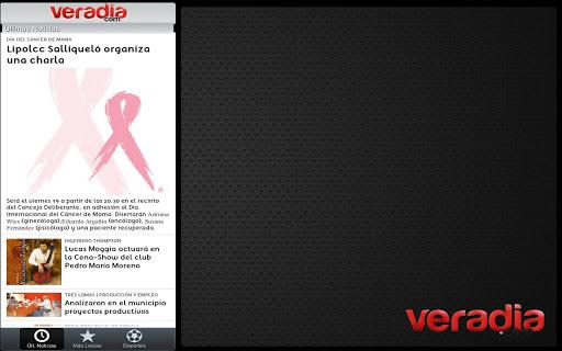 Veradia.com para tableta