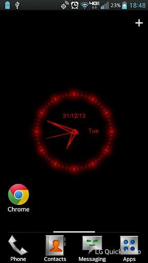 Red Clock Live Wallpaper