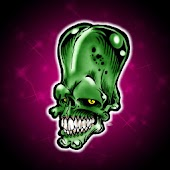 Cool Green Skull, theme 480x80