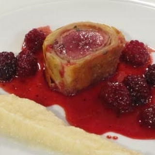 Hare Wellington with autumn berries