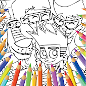 Johnny Johnny Test Coloring