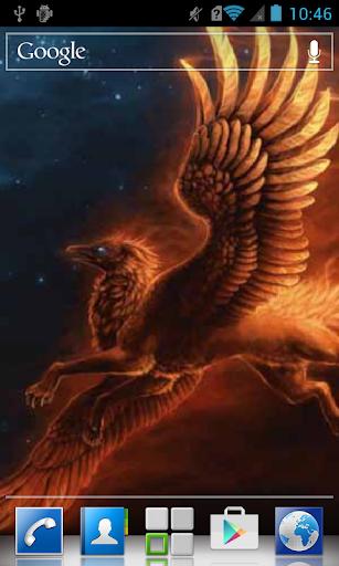 Fiery bird in the sky LWP