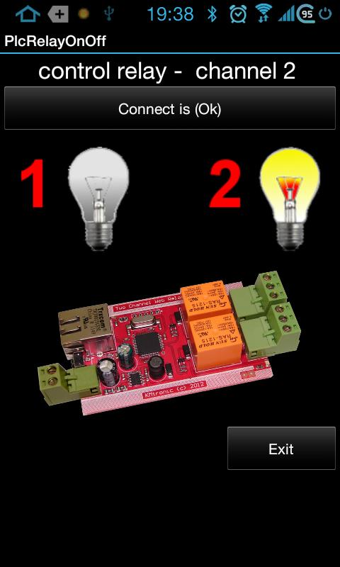 PLC 2 relay remote control net - screenshot