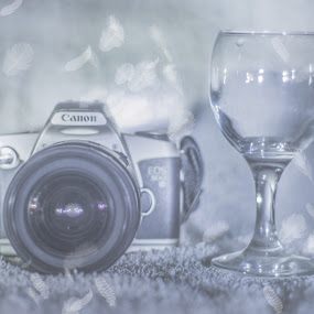 Canon EOS 500N by Ahamadul Karim - Artistic Objects Still Life ( canon, studio, still life, camera, image, pentax, feathers, photography, photos, glass, photographer, light, photoshop )