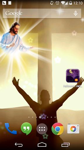 上帝和十字架動態壁紙