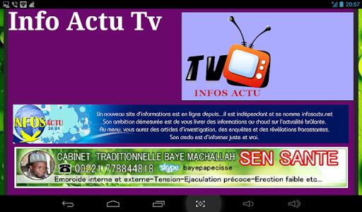 Infos Actu Tv