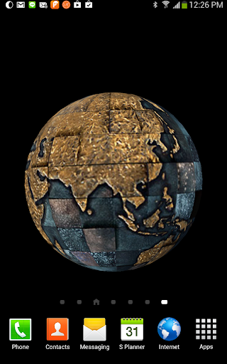 3D Golden Globe Live Wallpaper