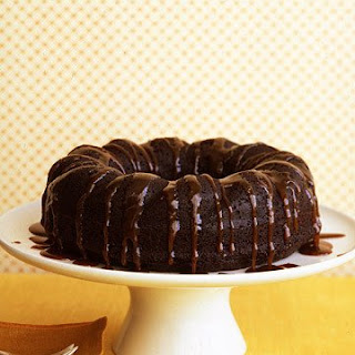 Chocolate-Ginger Cake with Bourbon Sauce.