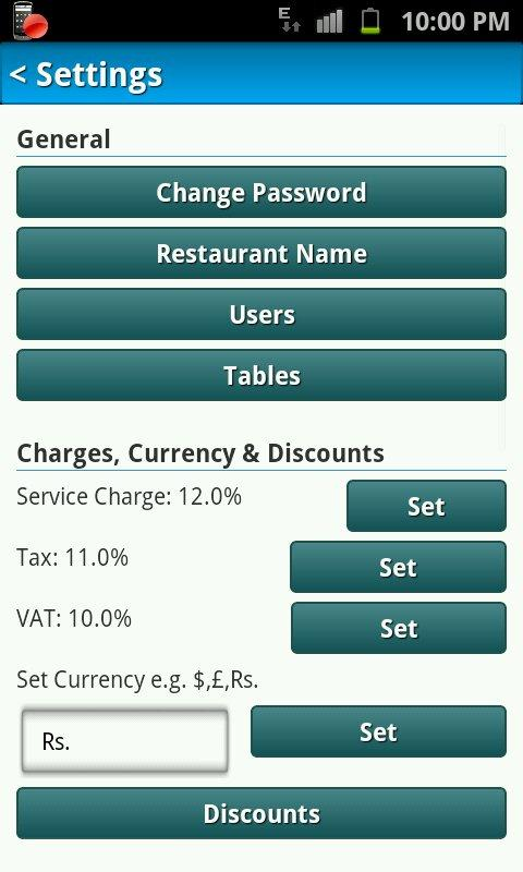 Restaurant Billing System - screenshot