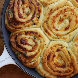 Cheddar Swirl Breakfast Buns- #TwelveLoaves