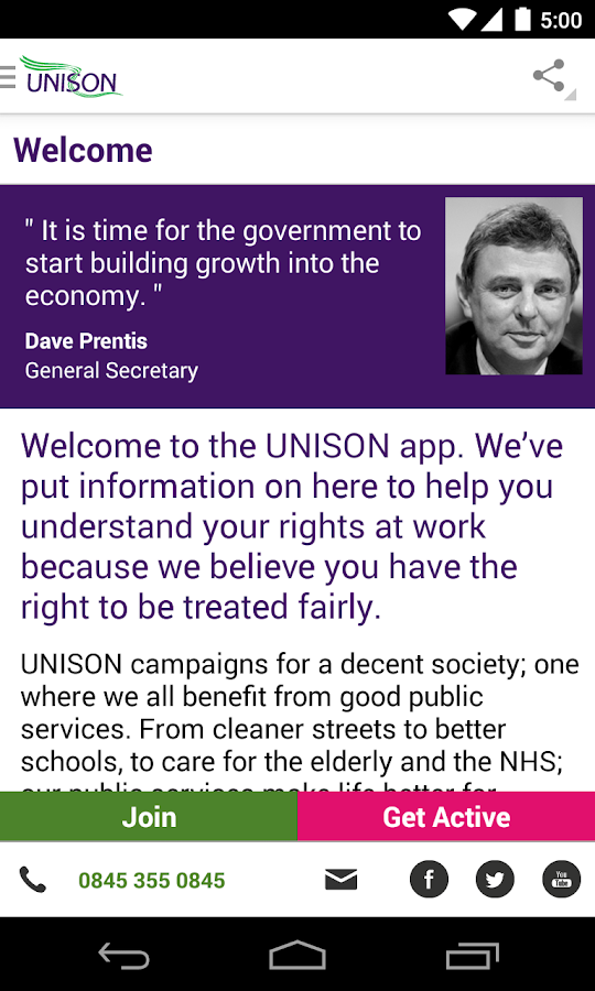 UNISON App - screenshot