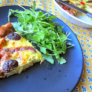 Provencal Crustless Quiche w/ Onions & Anchovies