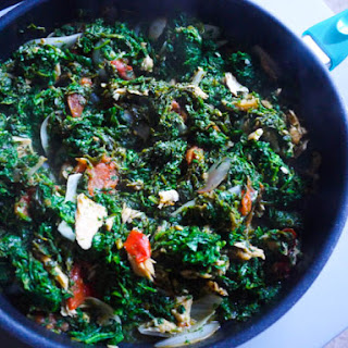 Spinach with Salted Codfish.