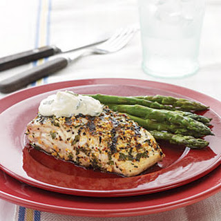 Grilled Amberjack with Country-Style Dijon Cream Sauce.