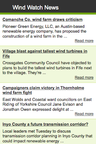 Wind Watch News- screenshot