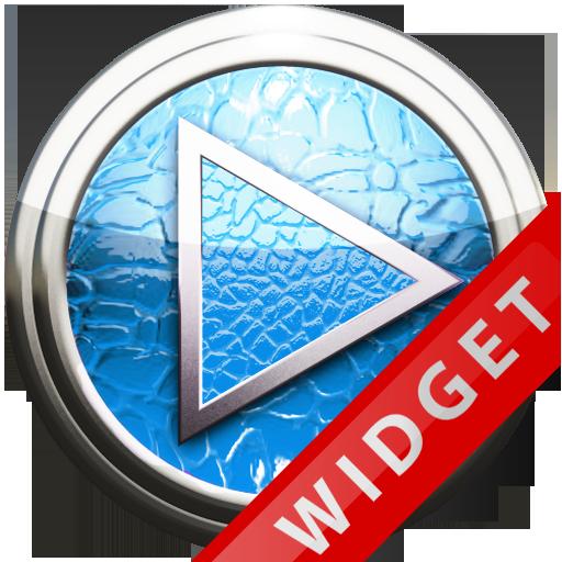 Poweramp Widget Lightblue Leat