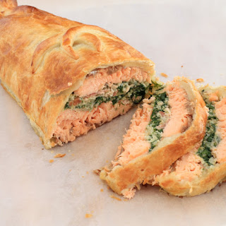 Salmon Wellington.