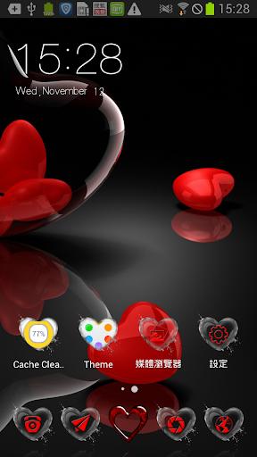 水晶紅心之戀桌布