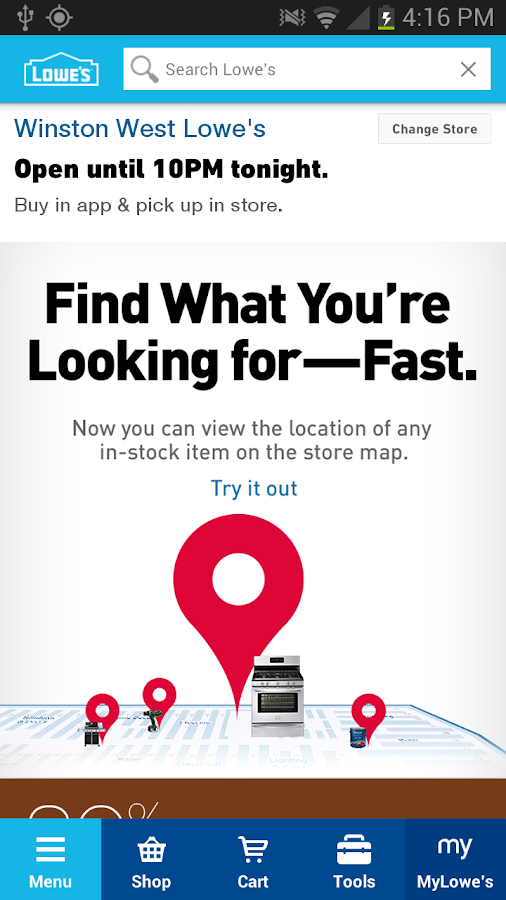 Lowe's - screenshot