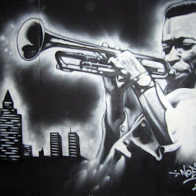 Miles Davis by Joko Pix - Black & White Portraits & People ( urbanart,  )