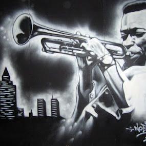 Miles Davis by Joko Pix - Black & White Portraits & People ( urbanart,  )