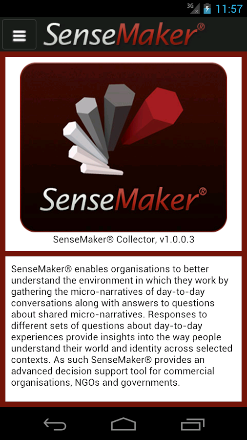 SenseMaker® Collector- screenshot