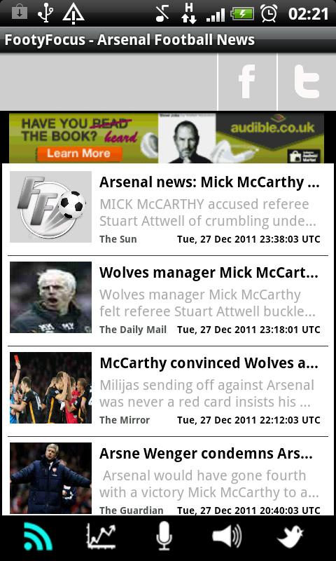 Arsenal - Latest News & Scores - screenshot