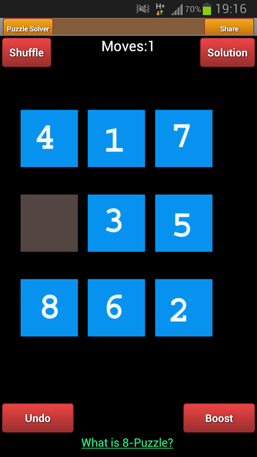 8 Puzzle - screenshot