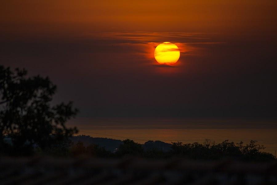 Sunset in Poreč, Croatia by Matija Rođak - Landscapes Sunsets & Sunrises ( sunset, croatia, evening, sun, porec )
