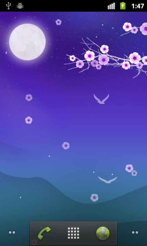 Blooming Night Live Wallpaper- screenshot