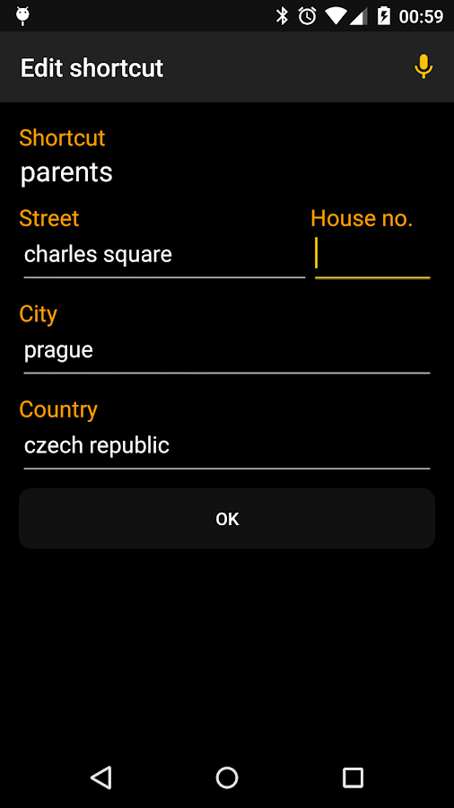 Voice Commands for Navigation- screenshot