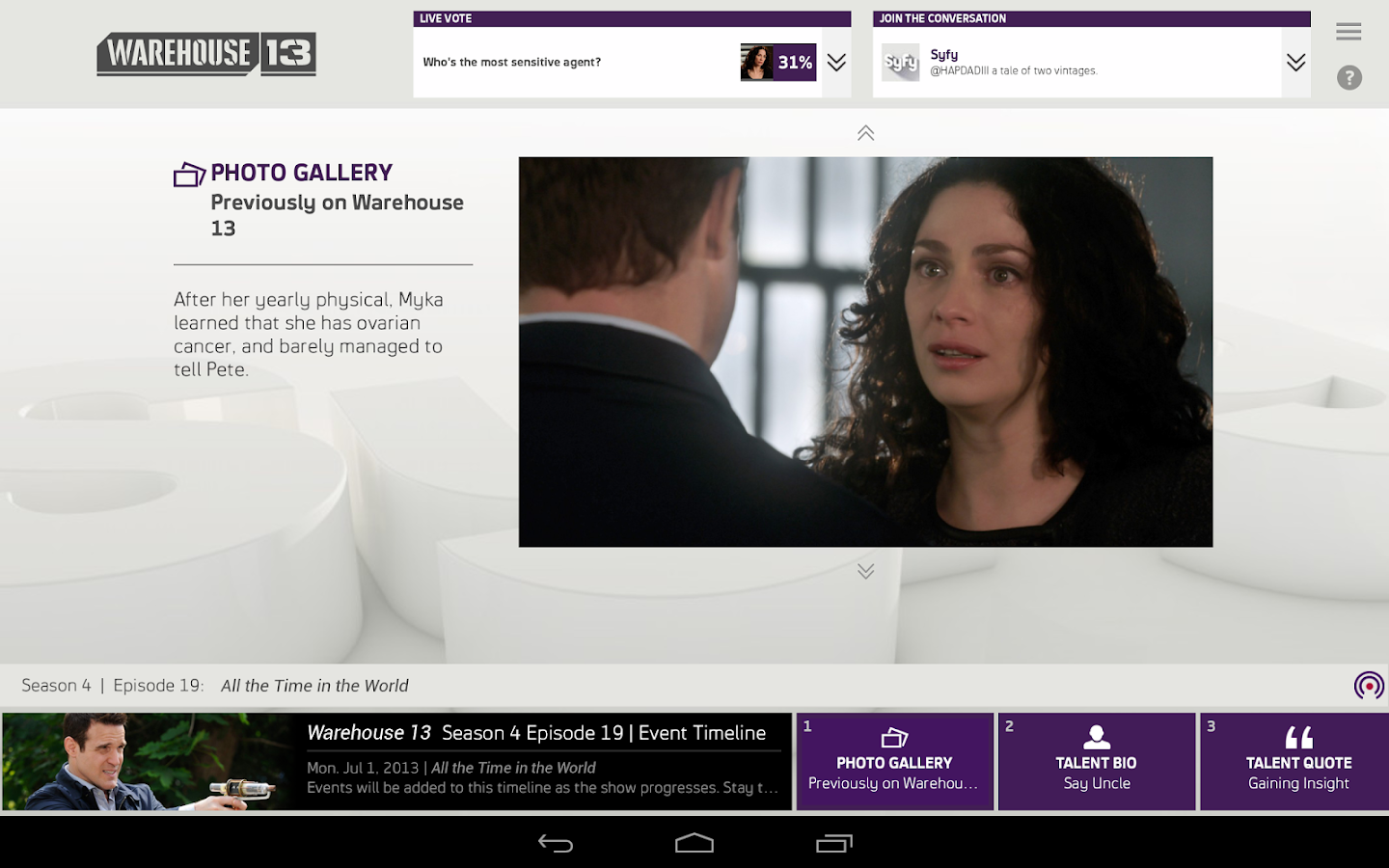 Syfy Sync - screenshot