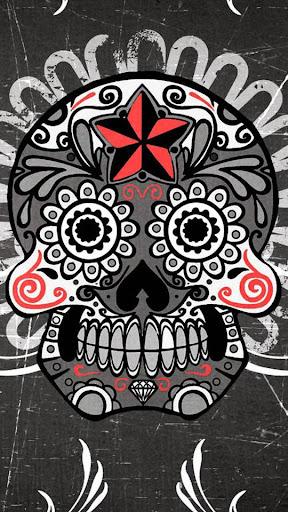 Mexican Skulls Wave LWP