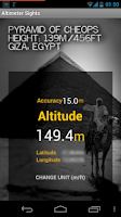 Screenshot of Altimeter Sights/GPS Altitude